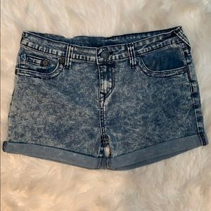 True Religion denim shorts size girls 14
